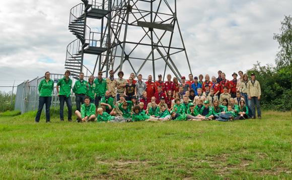 Scouting Rurik Heiloo op gezamelijk zomerkamp 2011 in Mook