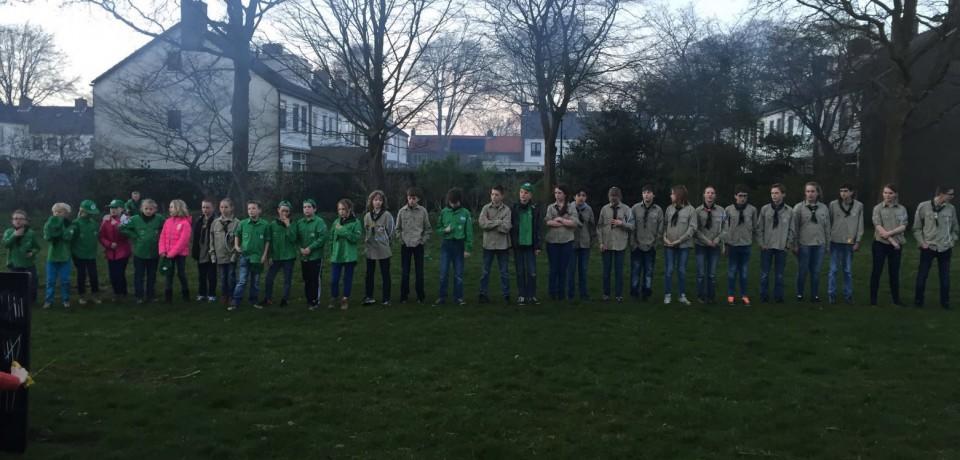 Scouting Rurik betrokken bij Dodenherdenking op 4 mei